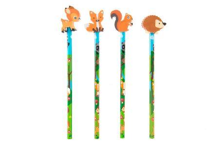 erdei állatok radír és ceruza