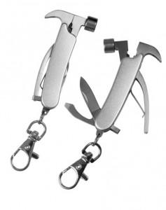 kalapács multifunkcionális kulcstartó, zsebkés