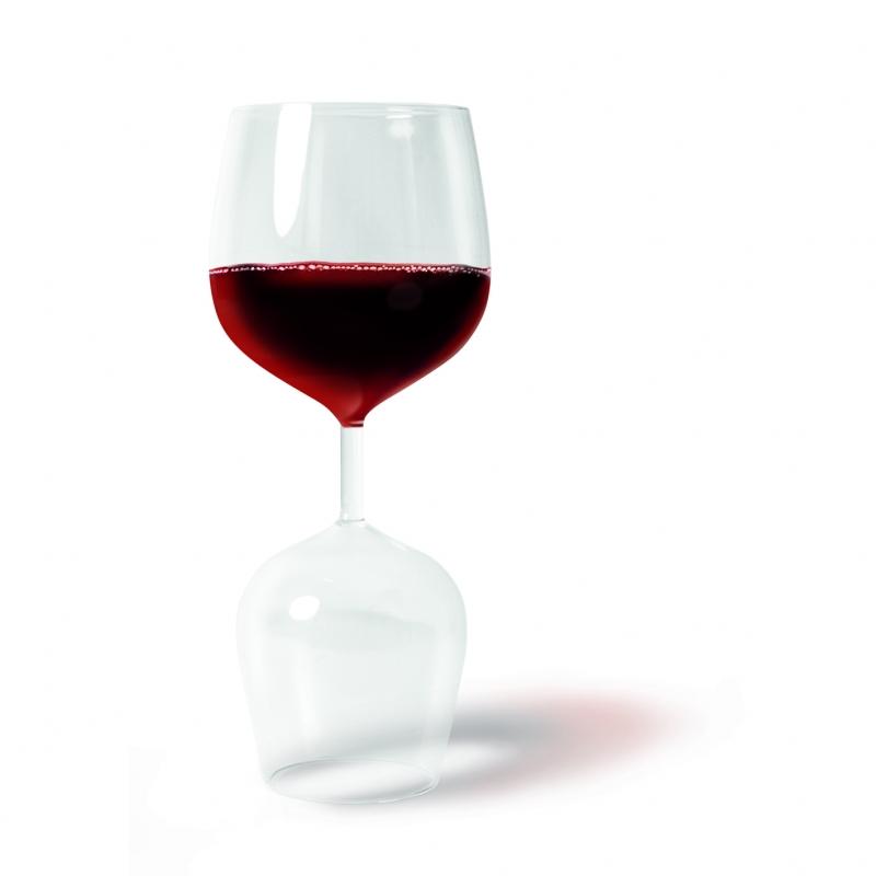 vörös - fehér boros pohár