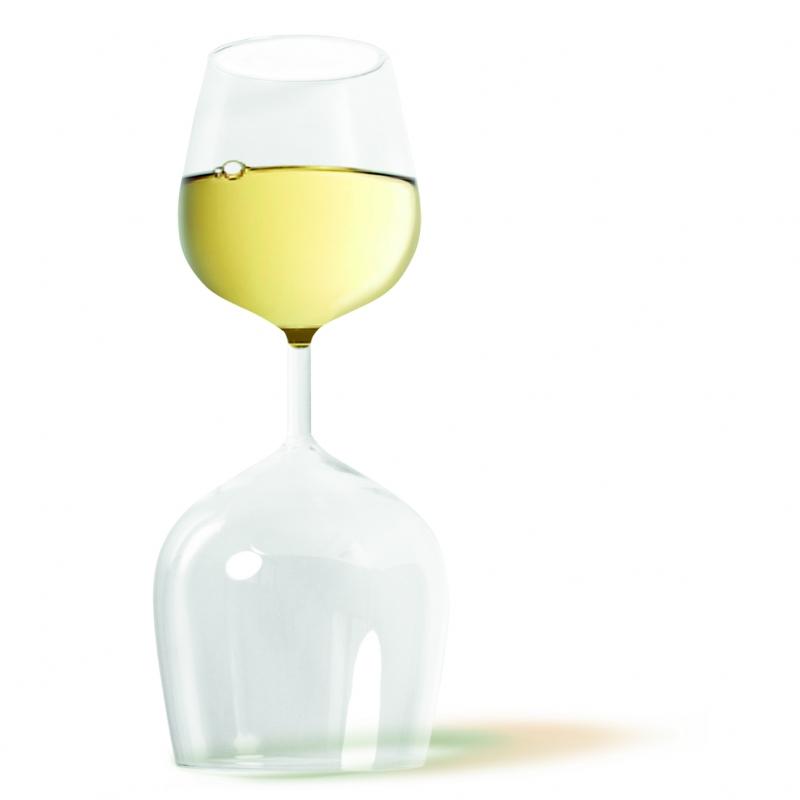 fehér - vörös boros pohár