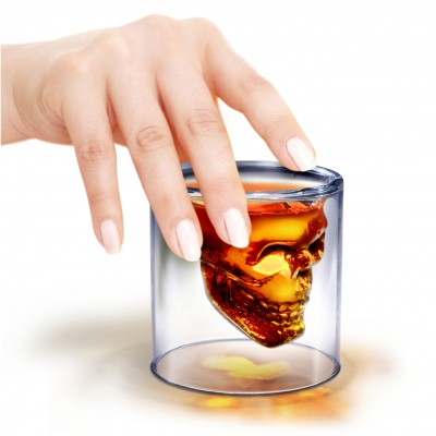 koponya feles shot pohár