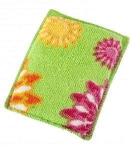 mosogatószivacs virág mintával