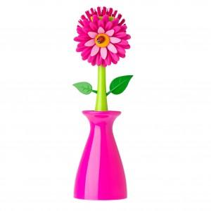 Mosogatókefe, váza alakú mosogatókefetartó, FLOWER termékcsalád tagja. Gyártó: VIGAR