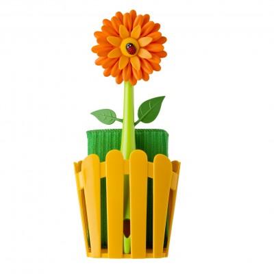 Mosogató szivacs, mosogatókefe, mosogató szivacs tartó, FLOWER termékcsalád tagja. Gyártó: VIGAR