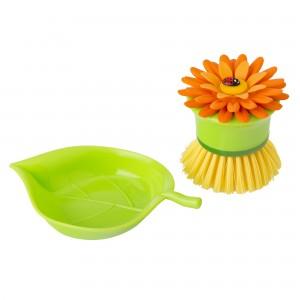 dizájn konyha eszköz, katicás ajándék, vicces konyhai kiegészítő, egyedi mosogatókefe