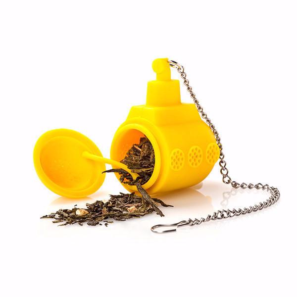 sárga tengeralattjáró teatojás, teaáztató