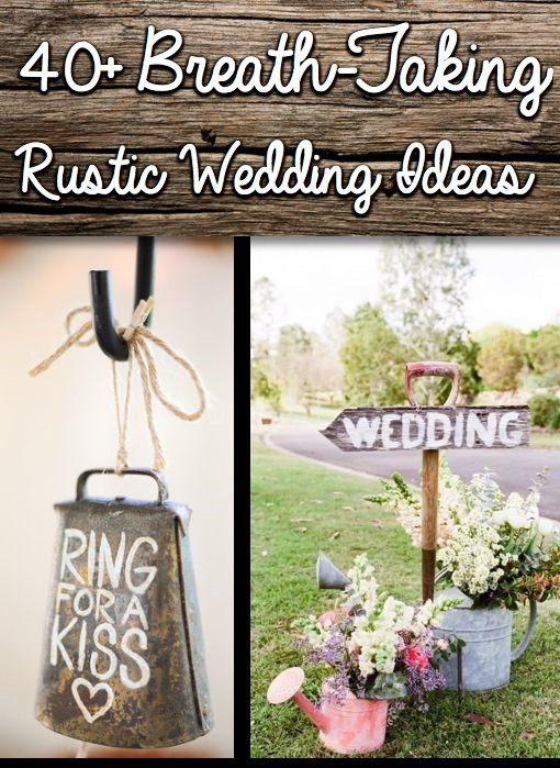 Rusztikus esküvő képekben