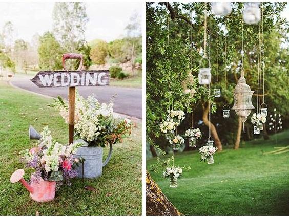 Kerti esküvő design