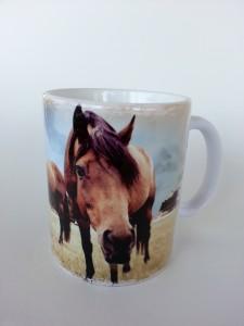 lovas ajándék. Lovas bögre a lovak szerelmeseinek. Ló selfie mintás bögre,