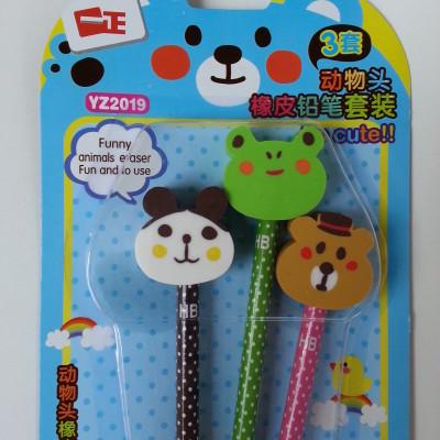 Radír és ceruza állatos