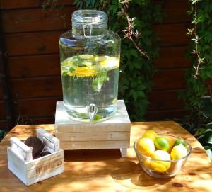 Csatos Limonádés üveg. Vintage italadagoló, csappal.