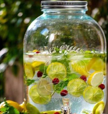 Limonádés üveg. Vintage italadagoló, csappal.