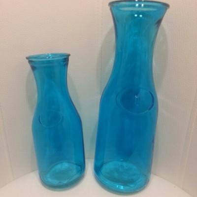 Váza, palack, karffa türkizkék