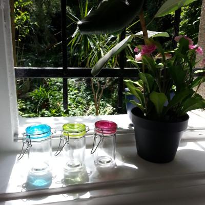 Csatos üveg színes fedéllel