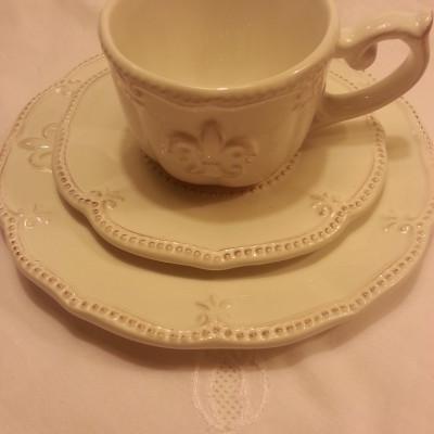 Vintage kerámia süteményes tányér