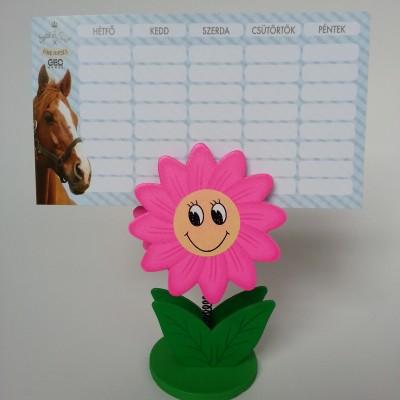 Virág órarend vagy névjegykártya tartó