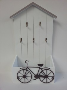 Vintage kulcstartó bicikli dekorral