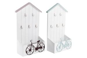 Kerékpár mintás kulcstartó és levél tartó