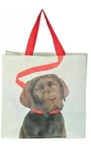 Bevásárló táska kutya mintával barna