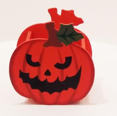 Fa ceruzatartó Halloween tök formában