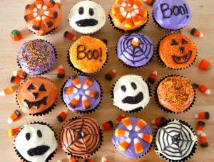 halloween muffin dekoráció