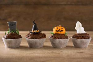 halloween muffin dekorálás