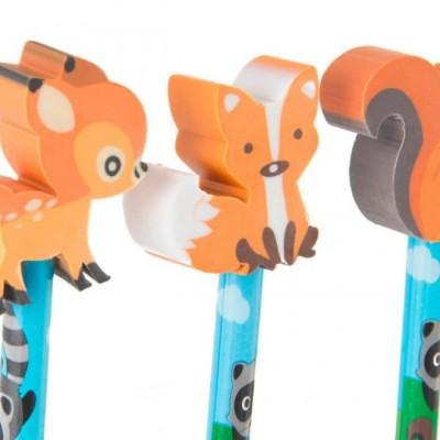 Erdő állatai radír és ceruza