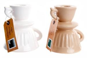 Csésze formájú kerámia gyertyatartó