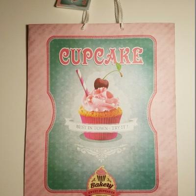 Cupcake ajándéktáska, papírtáska