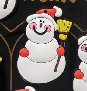 hóember formájú hűtőmágnes
