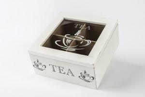 Teás doboz - 4 rekeszes teafilter tartó
