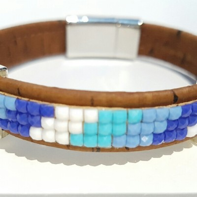 Parafa karkötő - kékség, egyedi ékszer