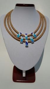 Parafa nyaklánc - kékség, egyedi ékszer