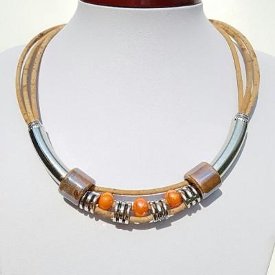 Parafa nyaklánc - Narancs, egyedi ékszer