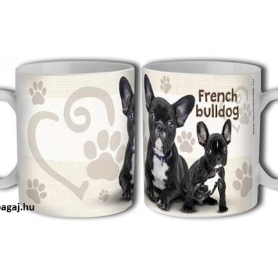 Kerámia bögre Francia bulldog mintával
