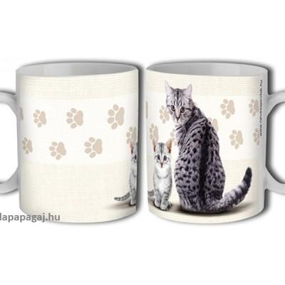 cicás ajándék, macskás bögre