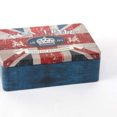 teafilter tartó doboz, Angol zászló mintával