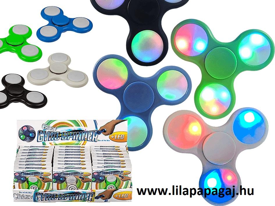 spinner led világítással