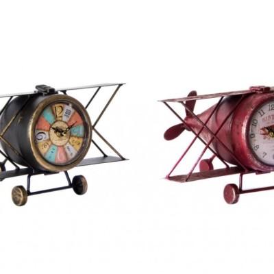 Repülőgép formájú asztali óra repülős óra