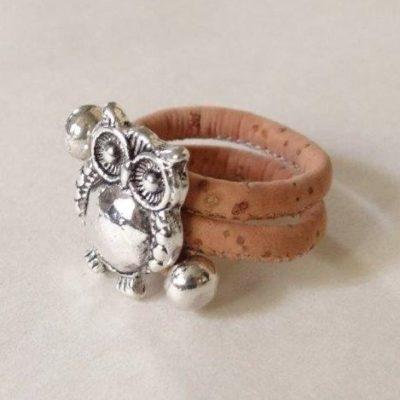 egyedi ékszer. állítható méretű nikkelmentes parafa gyűrű. Alegria mentes