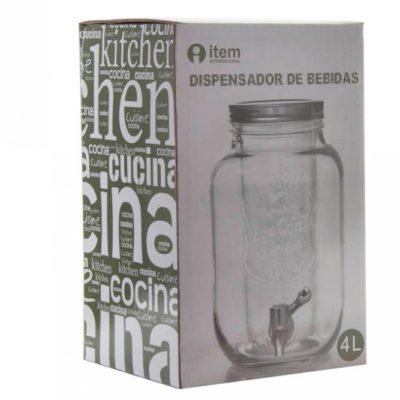 Csapos üveg, 4 literes italadagoló könnyen kezelhető csappal. Limonádés üveg a lilapapagaj.hu ajánlásával.